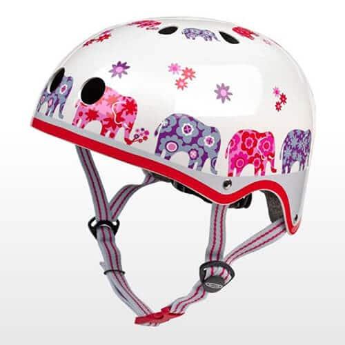 Micro girl-helmet for scooter