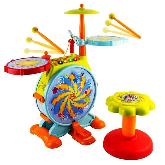 WolVol Electric Big Toy Drum Set